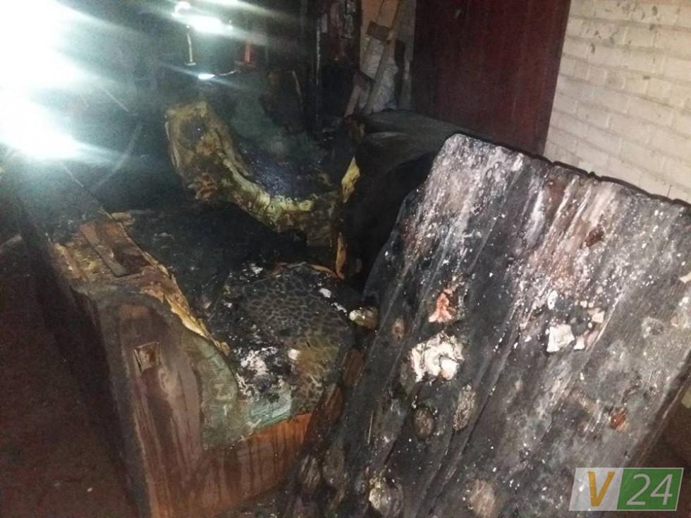 Згорілі меблі