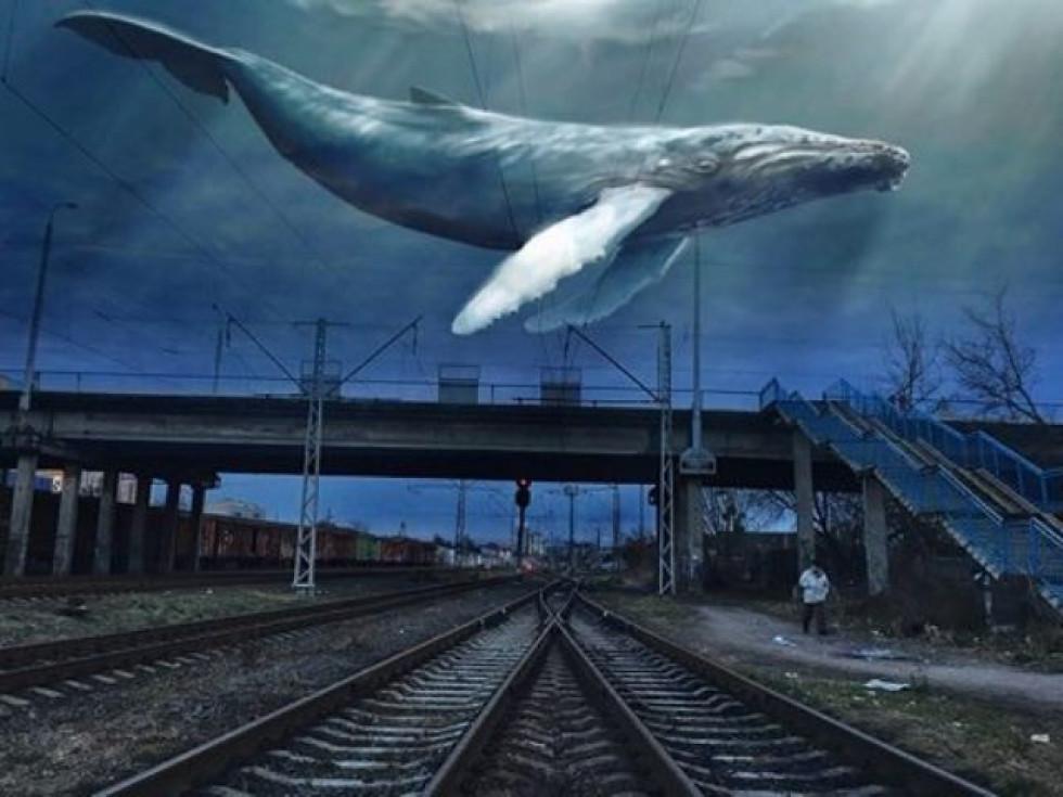 Небесний кит над станцією Луцьк