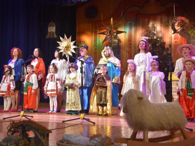 Вертеп на сцені палацу культури Луцька