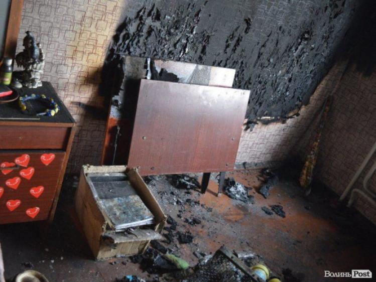 Вогонь знищив кімнату в гуртожитку