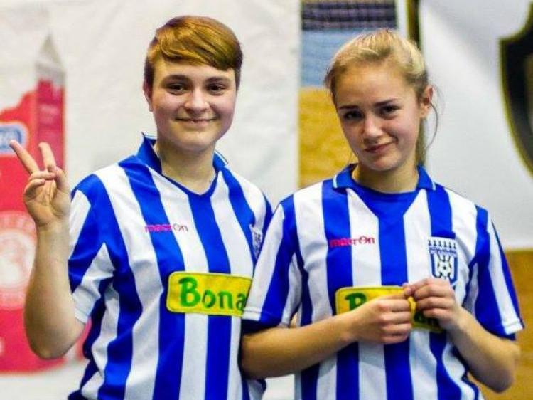 Героїні кубкового матчу Анастасія Грицак (справа) та Юлія Семенюк (зліва)