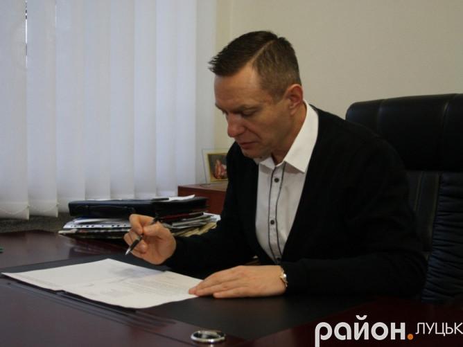 Голова БФ «Рідна Волинь» і ВОГО «ВОЛК» Дмитро Глазунов