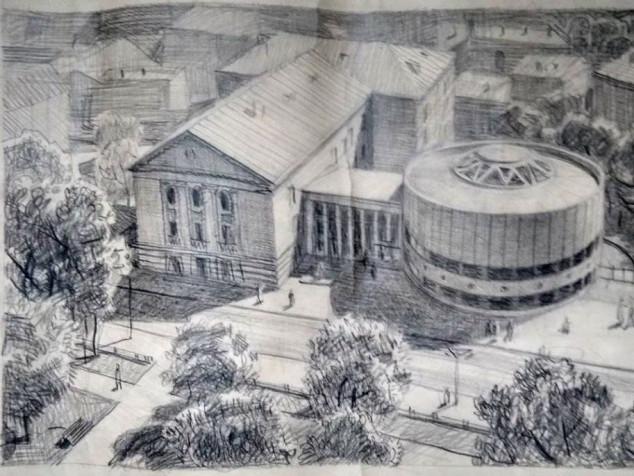 Ескіз добудови до Палацу культури міста Луцька