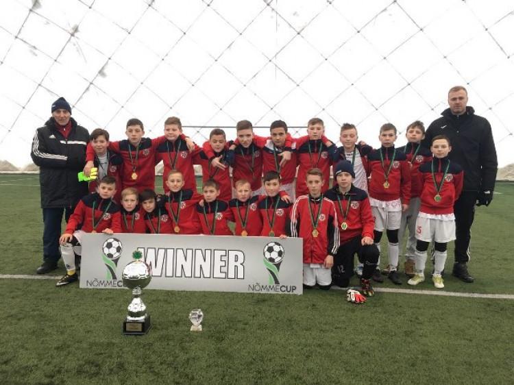 Команда «Волині U-13» після перемоги на турнірі у Естонії