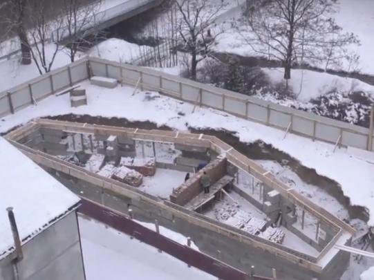 Будівництво на проспекті Відродження у Луцьку