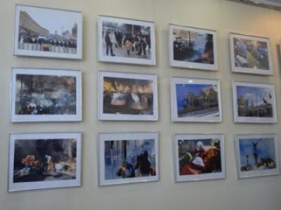 Виставка фоторобіт «Розстріляний майдан» у Палаці культури Луцька