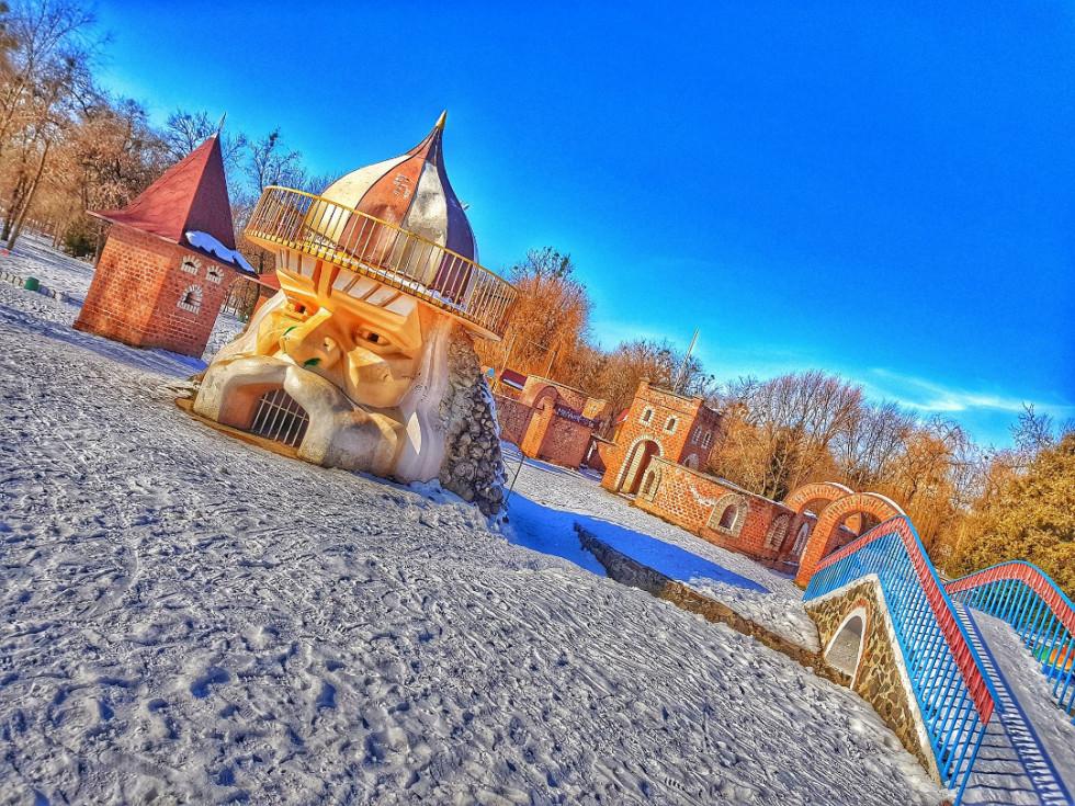 Зима у луцькому парку