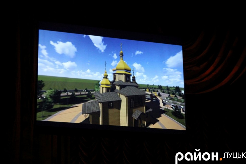 Проект майбутнього храму у Волновасі