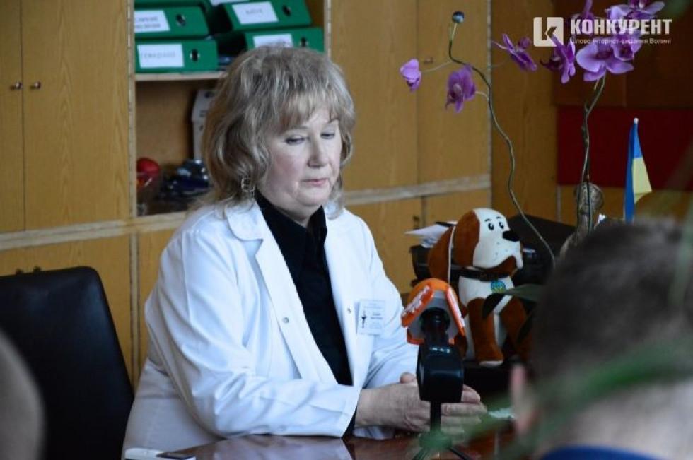 Головна лікарка Луцької міської лікарні Лариса Духневич