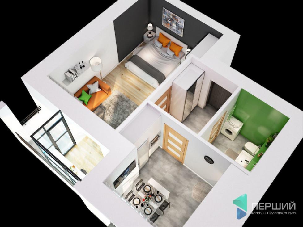 Планування 1-кімнатної квартири