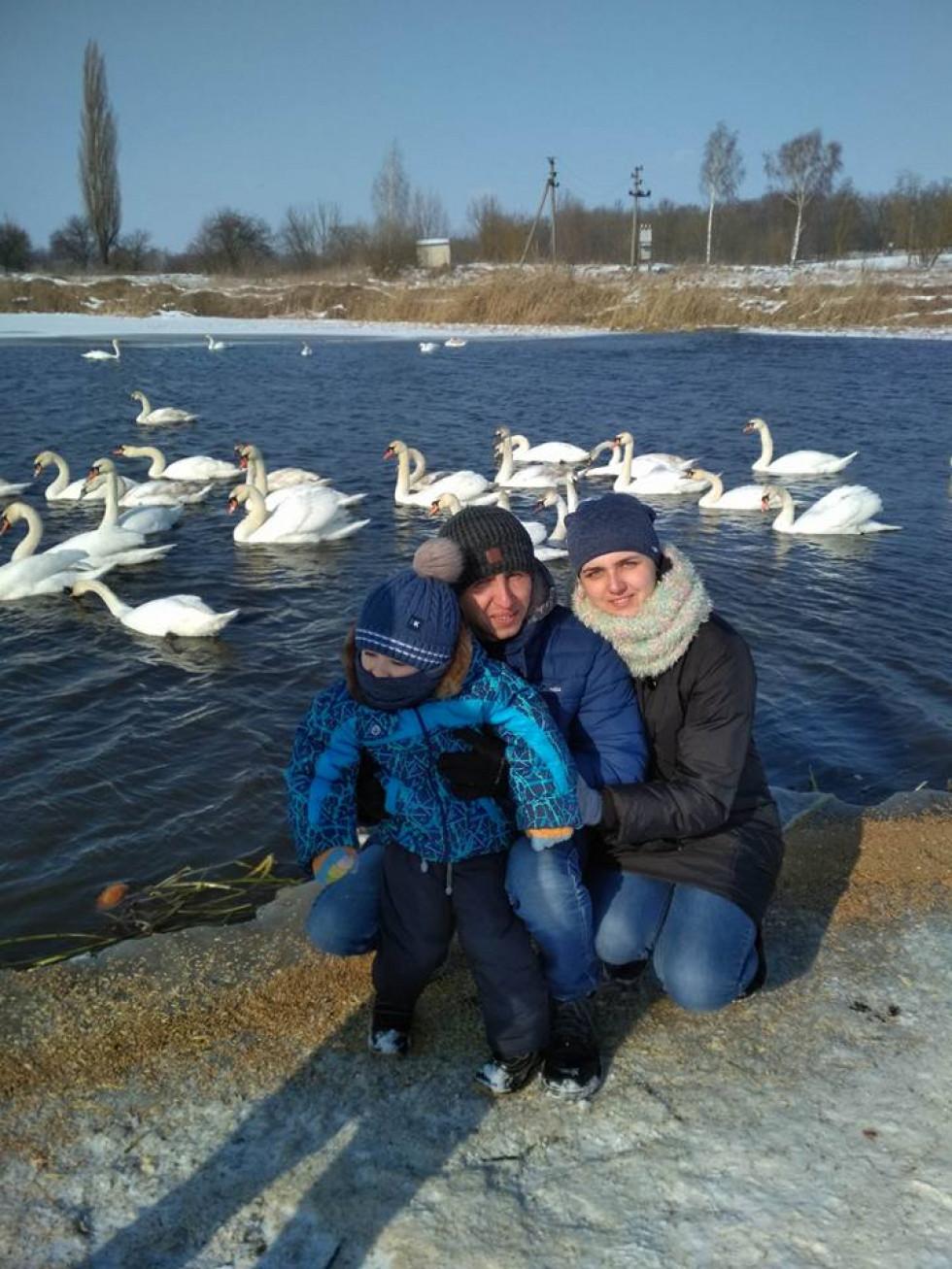 Родина приїхала відпочити і зазнімкувала сотні лебедів