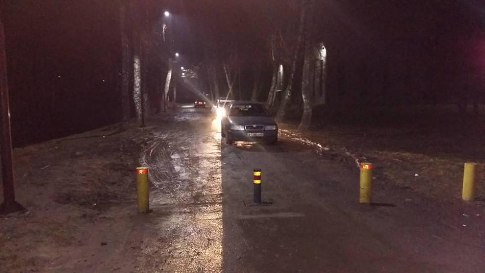 Заблокована на ніч дорога