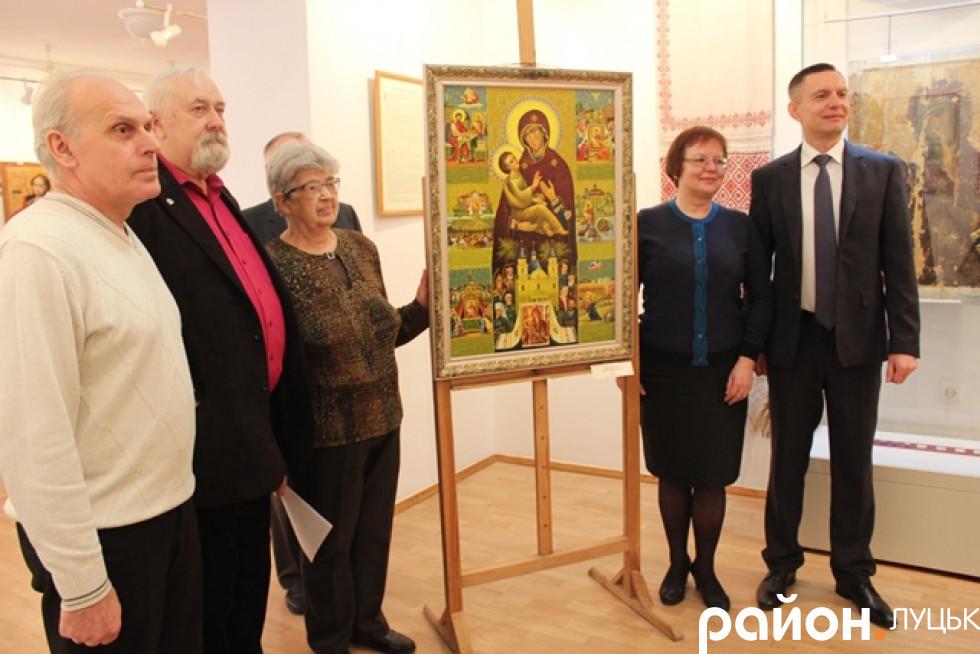 Картину дарував благодійний фонд «Рідна Волинь»
