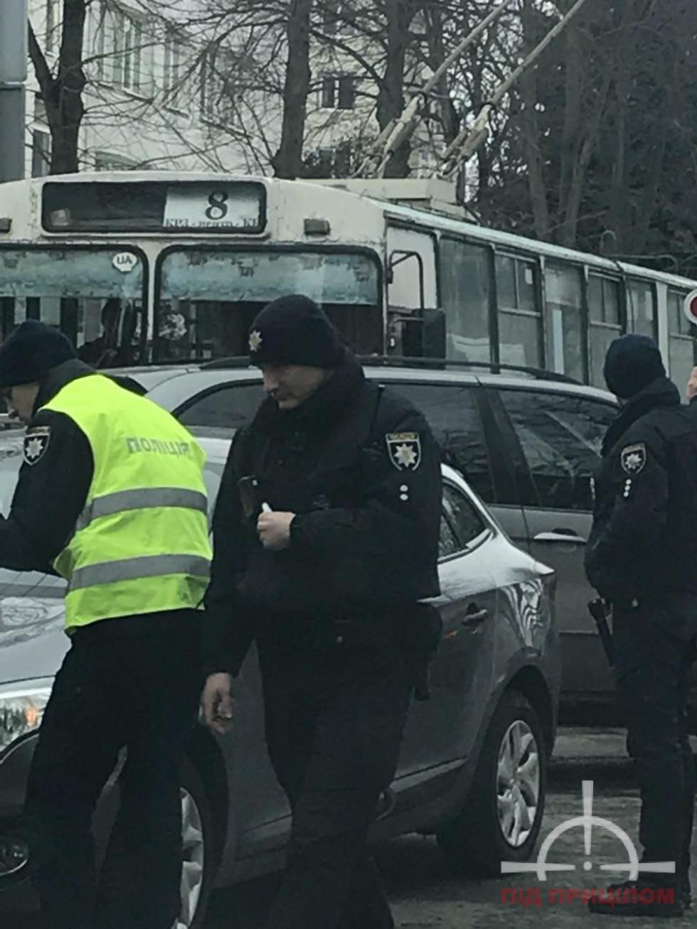 На місці події працювали патрульні поліцейські