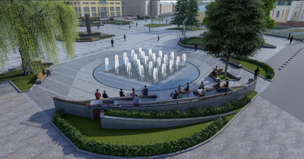 Центральний  майдан у Луцьку після реконструкції