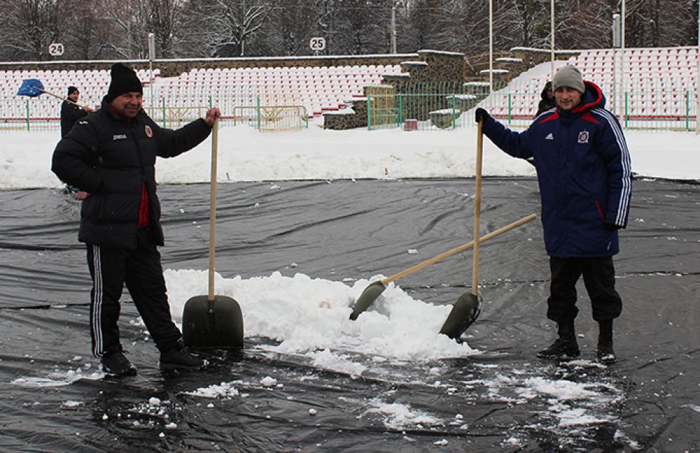 Ще двоє тренерів «Волині» - Володимир Гащин та Андрій Дикий - на секунду розслаблялися хіба що для фотографа