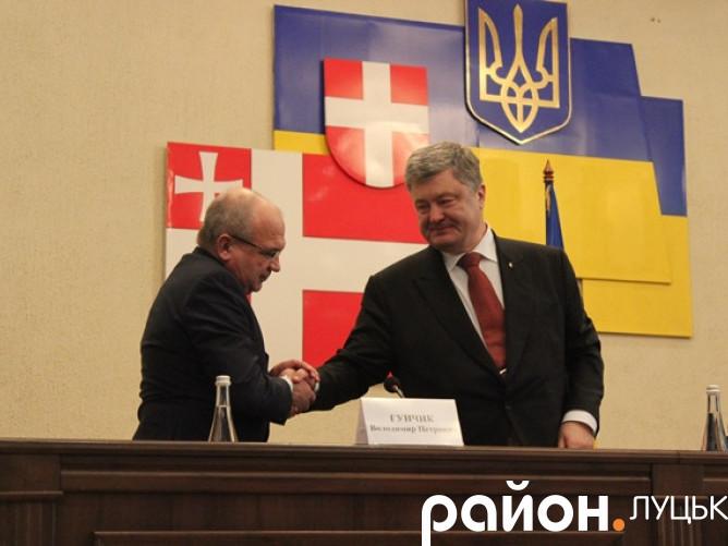 Петро Порошенко у Луцьку