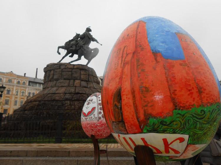 Писанка із замком Любарта в центрі Києва