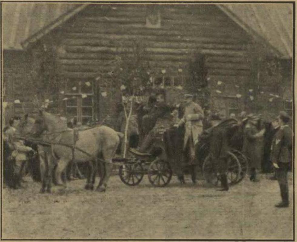 Юзеф Пілсудський прибув то Луцька на огляд 24-го піхотного полку.