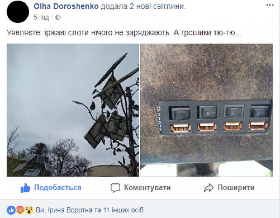 Допис Ольги Дорошенко