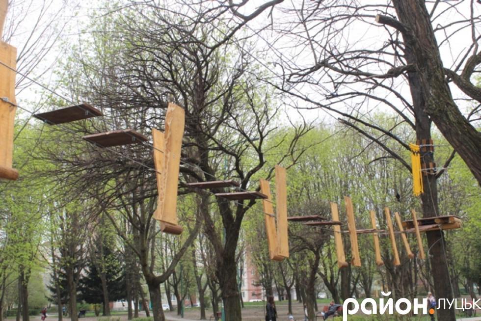 Мотузковий парк облаштовують за кошти спонсорів