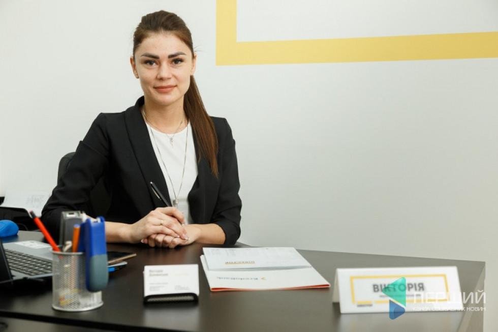 Керівник відділу продажів Будівельної компанії «Інвестор» Вікторія Доманська