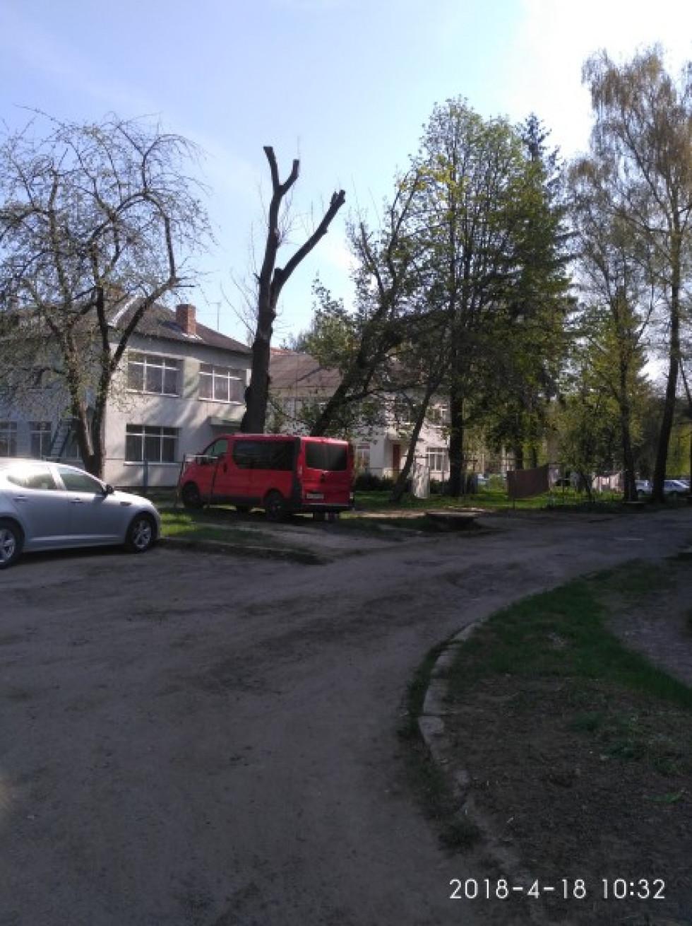 Так виглядає згаданий двір на увлиці Степана Бандери,19