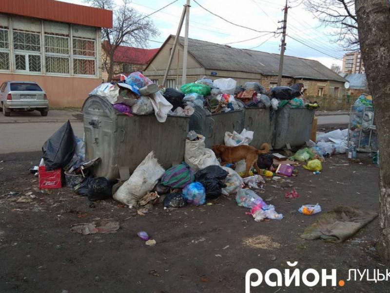 По Луцьку утворюються стихійні сміттєзвалища