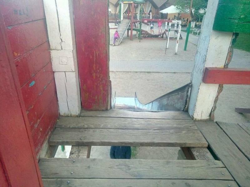 П'ятирічний хлопчик травмував спину на дитячому майданчику