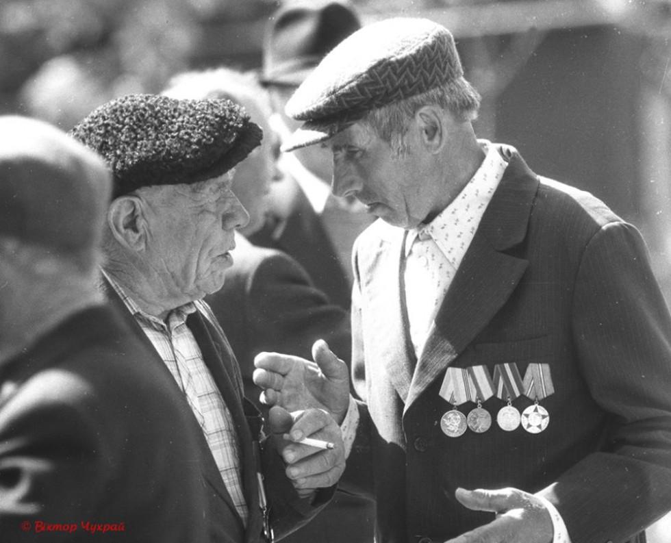 Ветерани війни спілкуються між собою