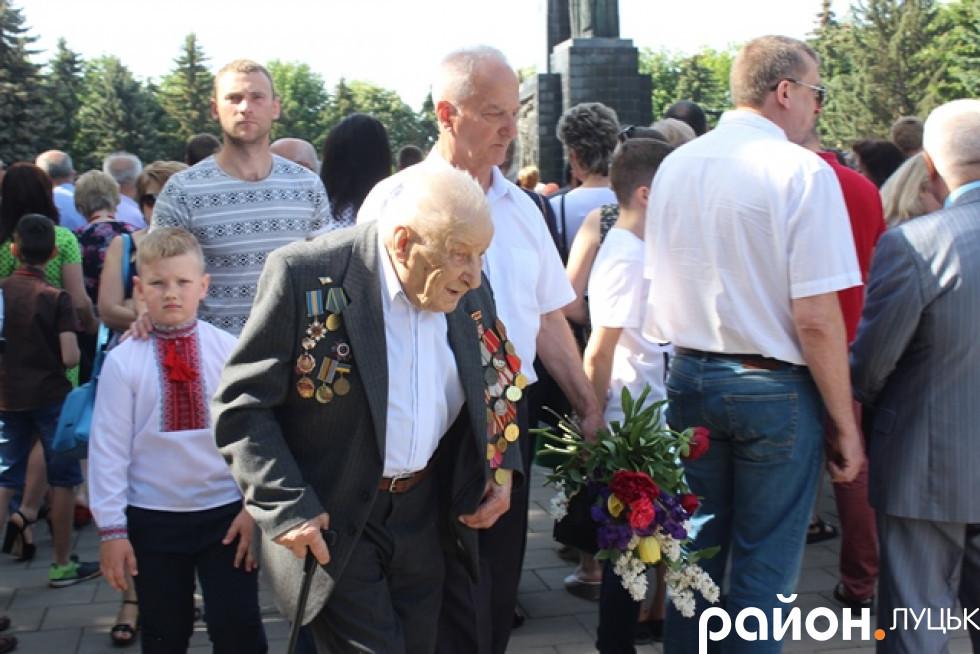 Ветерани Другої Світової Війни в Луцьку