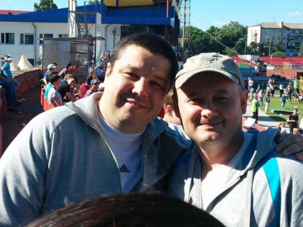 Костянтин Петрочук - ліворуч, Олександр Сологуб - праворуч.