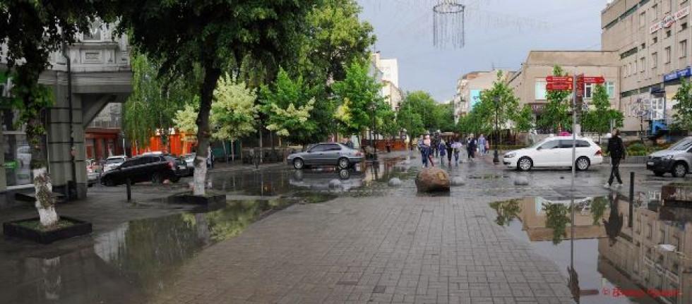 Наслідки дощу на Лесі Українки