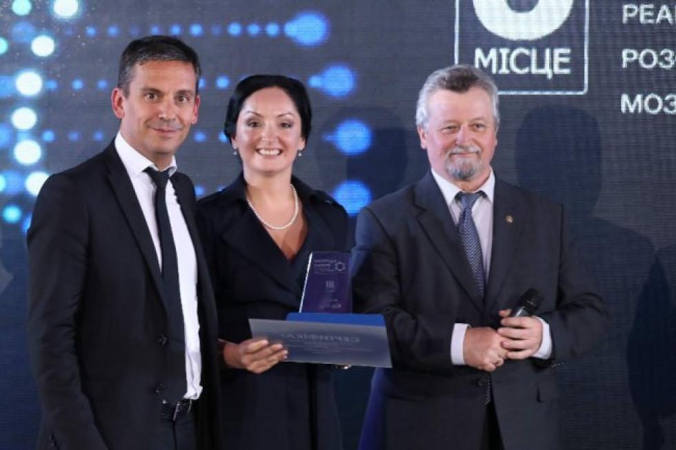 Ольга Шульга з організаторами конкурсу