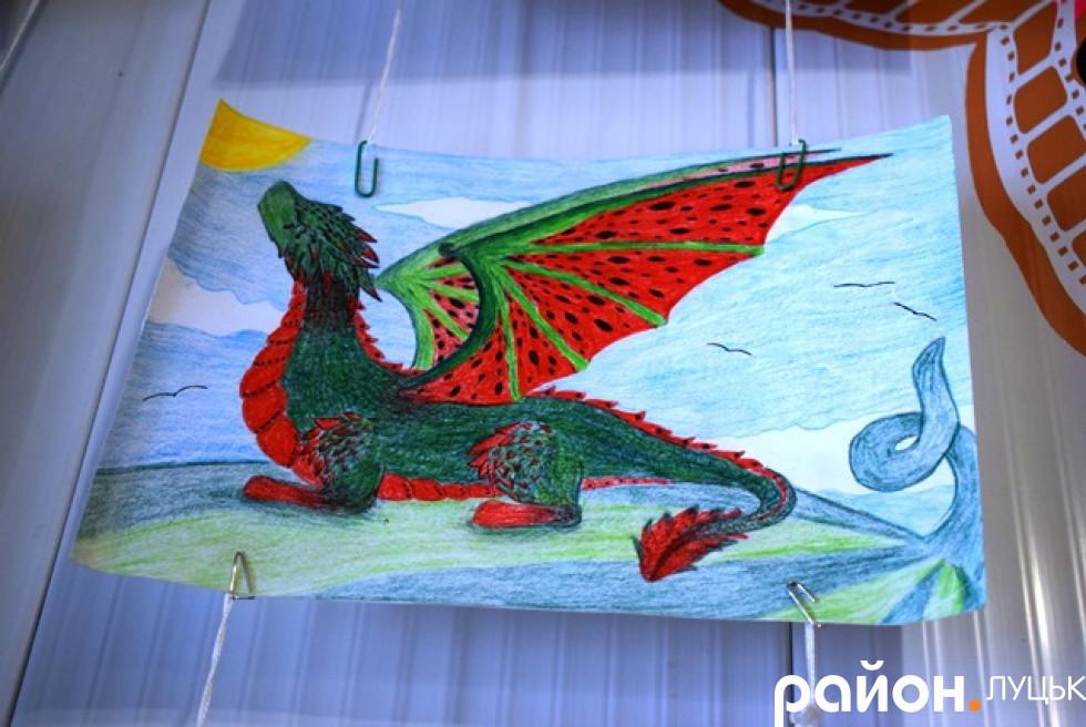 Кавуно-дракон юної художниці