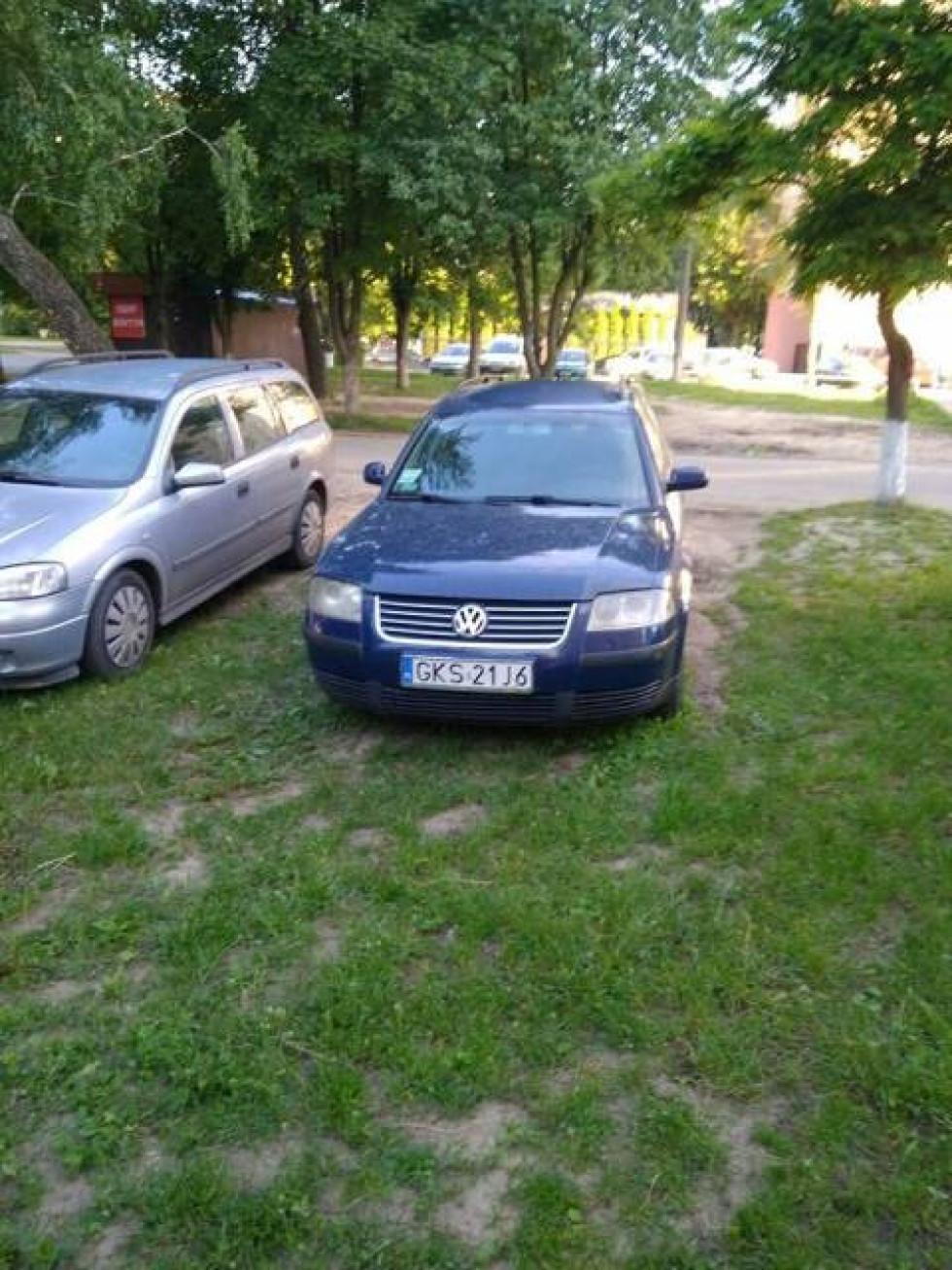Розміщують авто просто на газоні