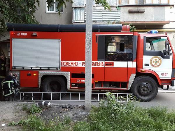 Через пожежу перекрили вулицю