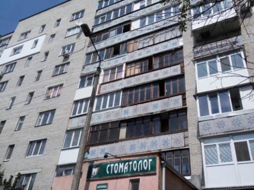 Балкон згорів вщент