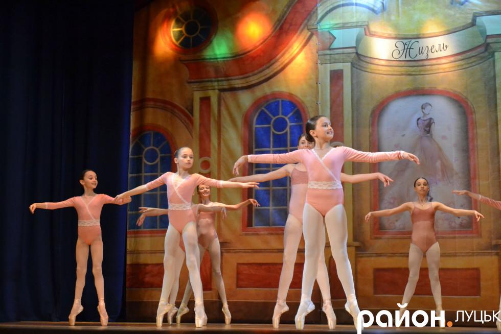 Граційні рухи балерин під час виступу