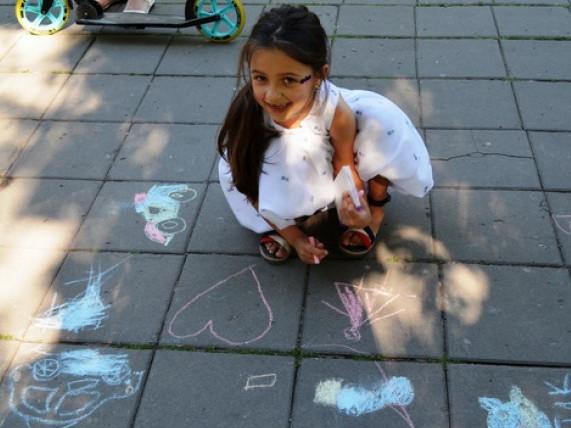 День захисту дітей в Центральному парку міста