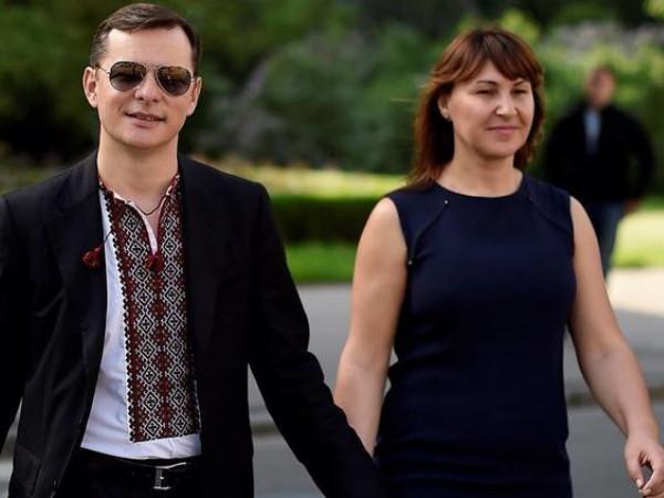 Олег Ляшко зі своєю дружиною
