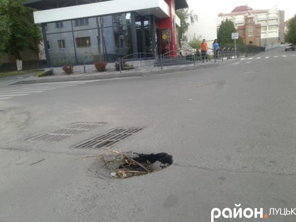 Яма на вулиці Потапова