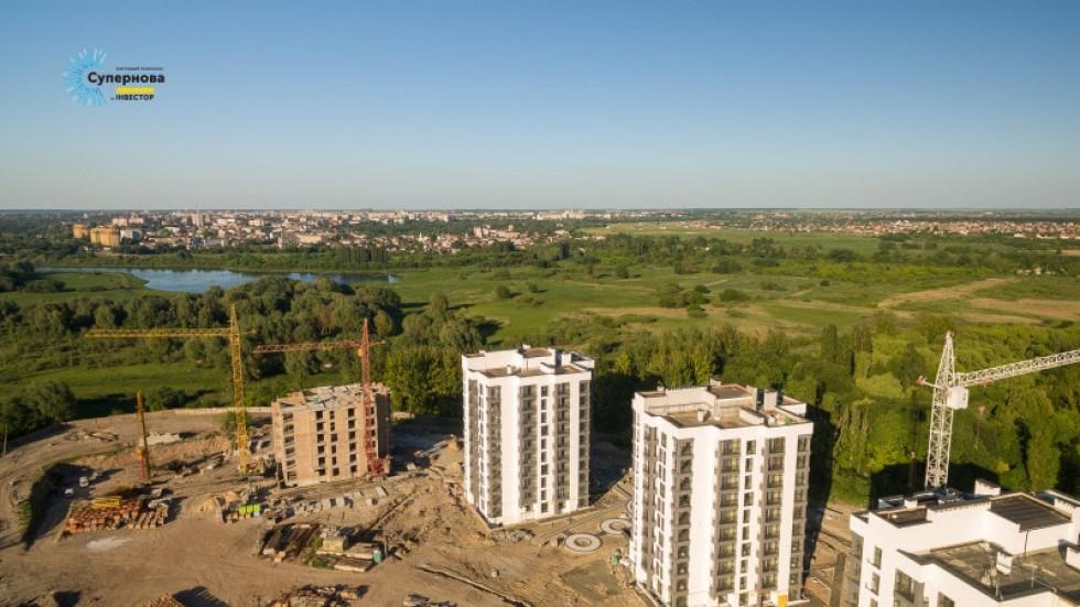 Один з найбільших будівельних комплексів у Луцьку – ЖК «Супернова»