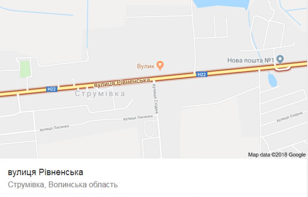 Вулиця Рівненська на карті