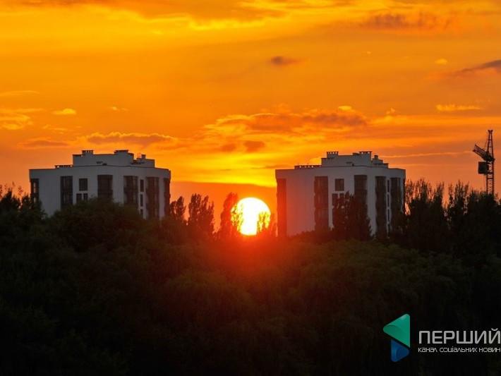 Захід сонця у Луцьку