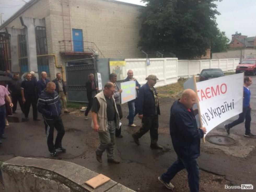 Робітники вийшли на акцію протесту