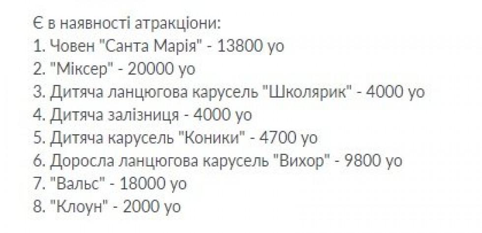Ціни на гойдалки