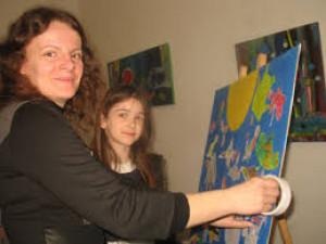 Наталія Мелесь з ученицею