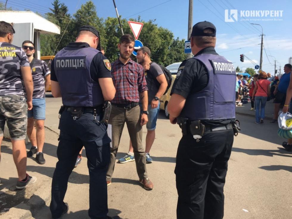 Представники«Національного корпусу» та«Національнихдружин- Волинь»виясняли ситуацію з парковкою