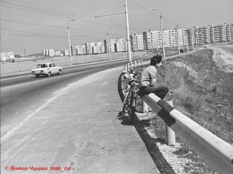 Вигляд 33-го мікрорайону Луцька у 1986 році